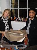 Sateesh Jadhav presents The University of Northampton with a generous gift